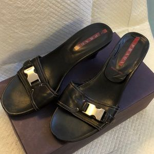 Prada sports black kitten heels size 9.5